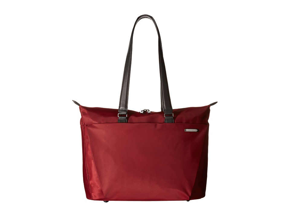 Briggs amp Riley Sympatico Shopping Tote Burgundy Tote Handbags