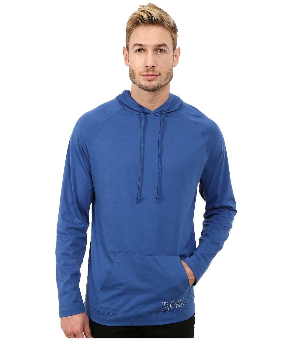 BOSS Hugo Boss Long Sleeve Hooded Shirt 1018 Medium Blue Mens Swimwear