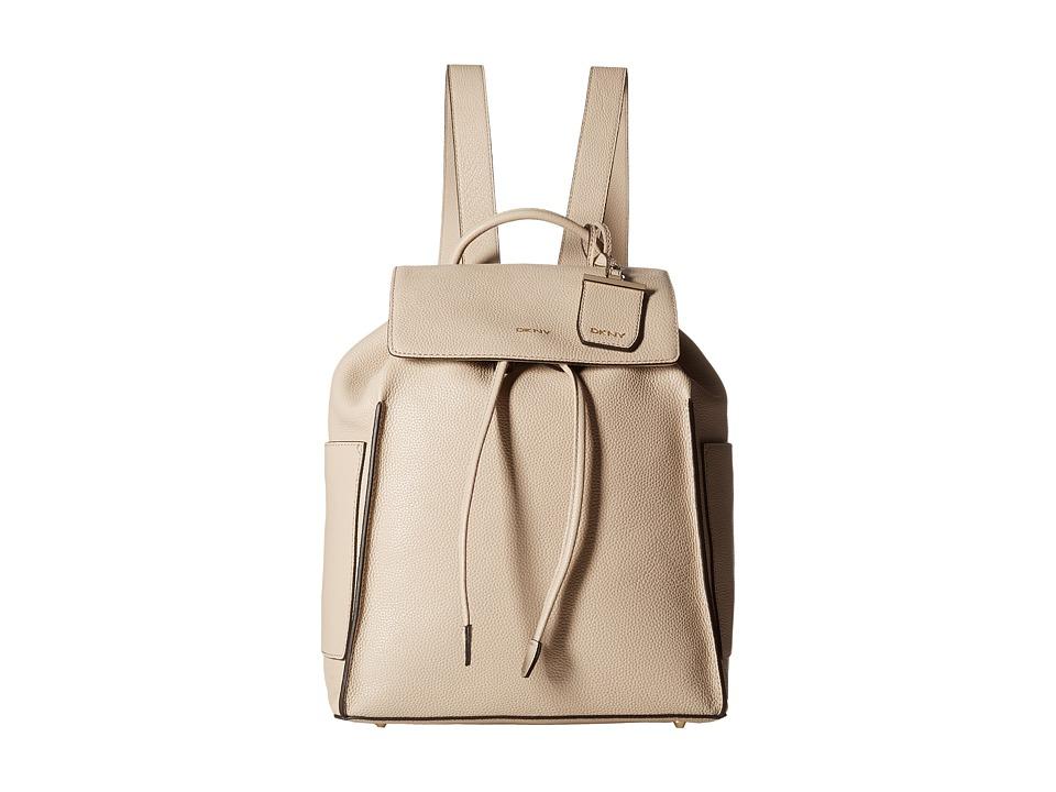 DKNY - Chelsea - Vintage Leather Drawstring Backpack (Sand) Backpack Bags