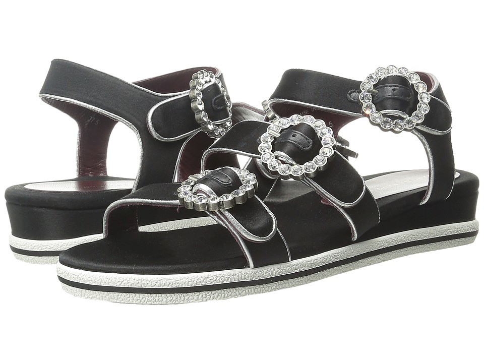 Marc by Marc Jacobs Charlotte Strass Buckle Sandal Black Womens Sandals