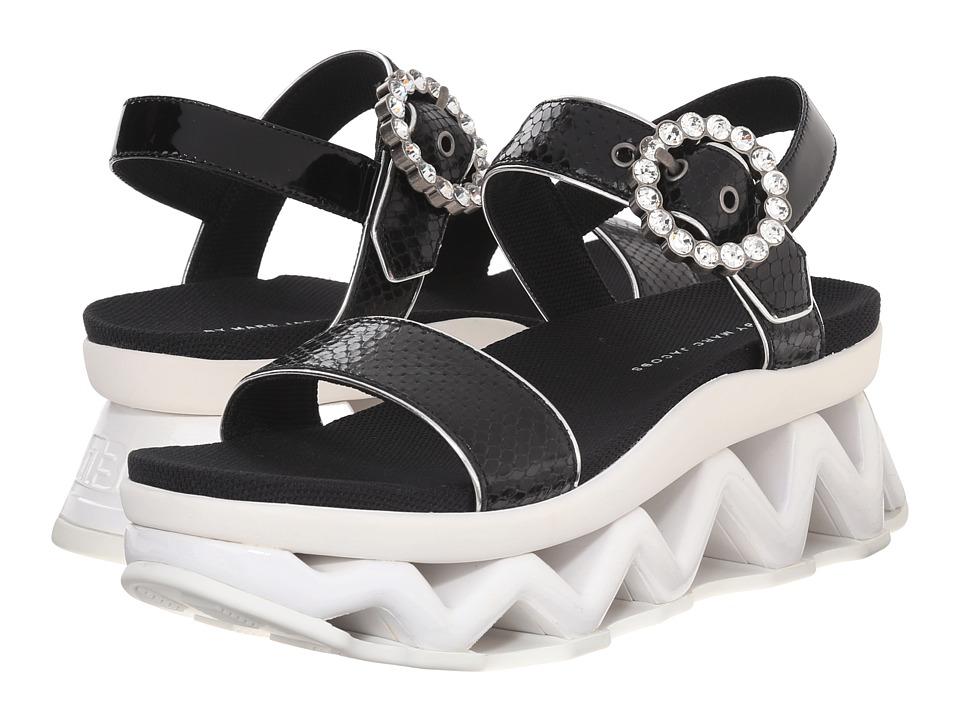 Marc by Marc Jacobs Ninja Strass Wave Sandal Black Womens Sandals