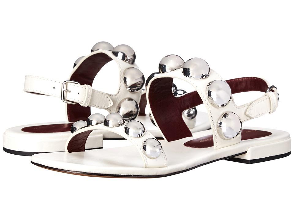 Marc by Marc Jacobs Joni Flat Sandal Talc Womens Sandals