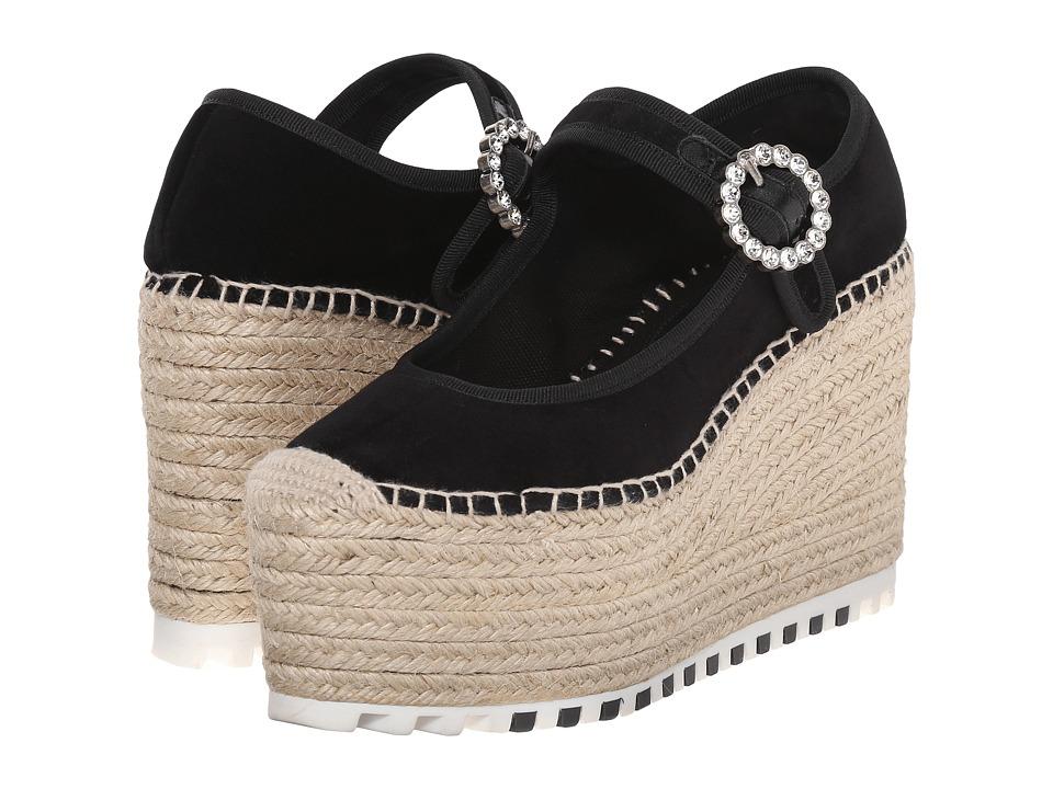 Marc by Marc Jacobs Anjelica 120mm Maryjane Wedge Black Womens Maryjane Shoes