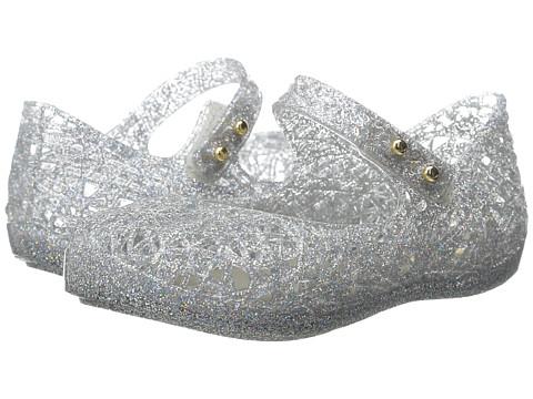 Mini Melissa Mini Campana Zig Zag VI (Toddler) - Mixed Silver Glitter