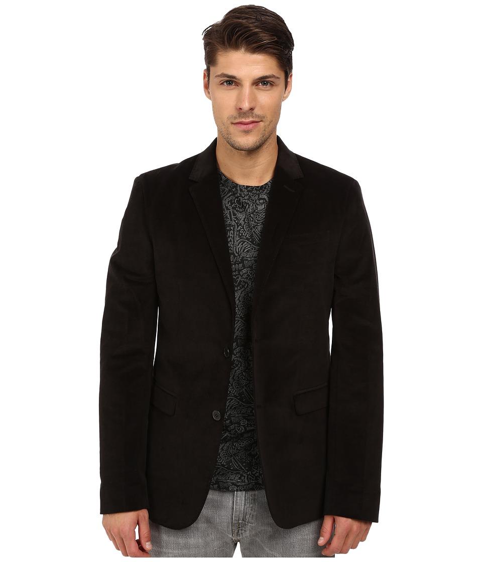French Connection Velvet Overload Jacket Black Mens Coat