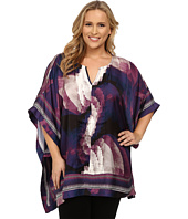 Mynt 1792 - Plus Size Border Printed Blouse