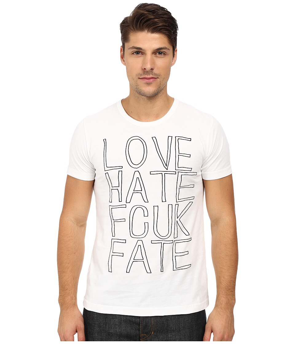 French Connection - Fcuk Fate Tee (Optic White/Black) Men