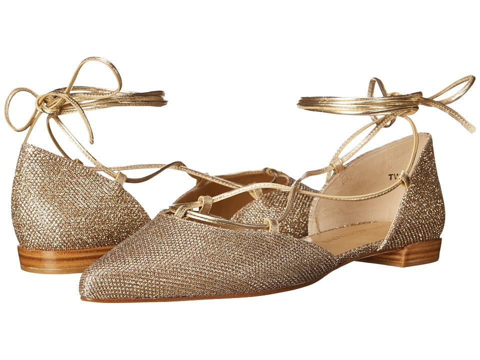 Stuart Weitzman Bridal amp Evening Collection Gilligan Platinum Noir Womens Dress Flat Shoes