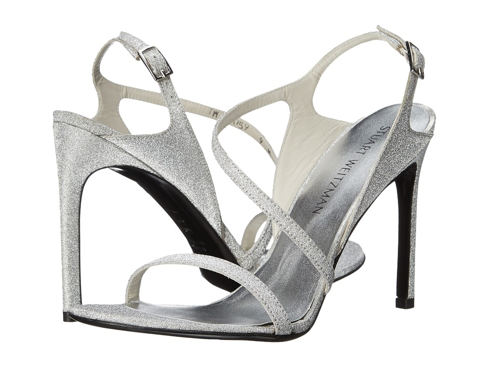 Stuart Weitzman Bridal amp Evening Collection Sensual Argento Glitterati Womens Bridal Shoes