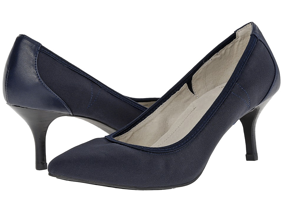 Tahari - Toby (Dark Navy Tricot/Soft Nappa) High Heels