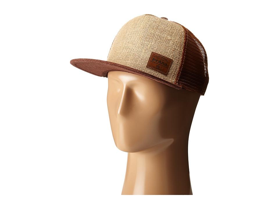 Prana Darrius Trucker Hat Hazelnut Caps
