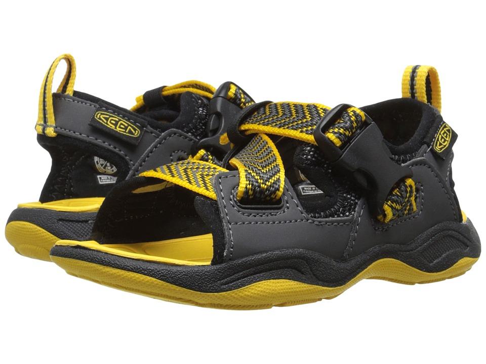 Keen Kids Rock Iguana Toddler/Little Kid Black/Yellow Boys Shoes