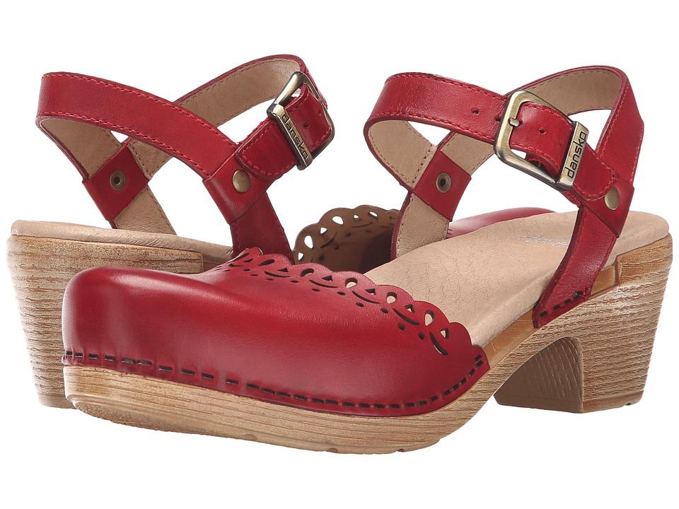 Dansko Marta Red Full Grain High Heels