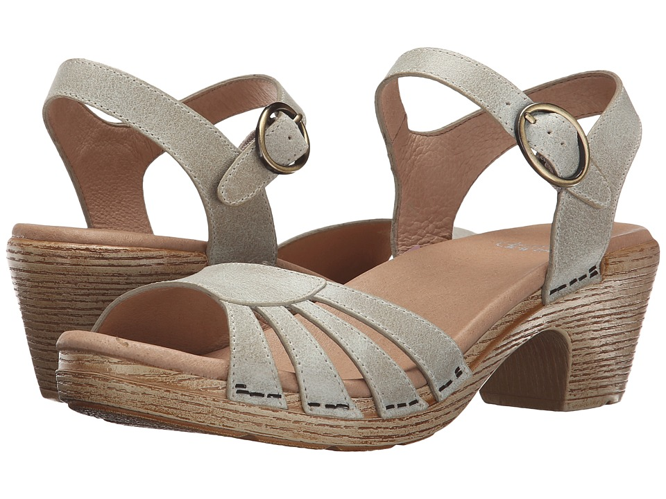 Dansko Marlow Oyster Washed Leather Womens Sandals