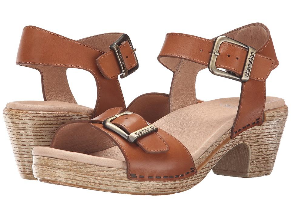 Dansko Matty Camel Full Grain Womens Sandals