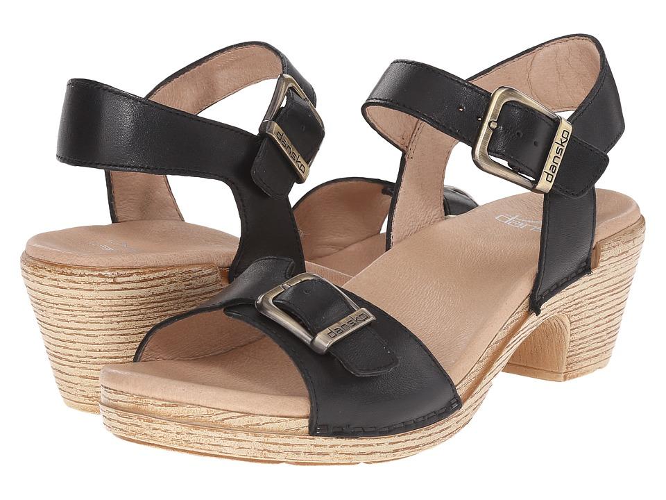 Dansko Matty Black Full Grain Womens Sandals