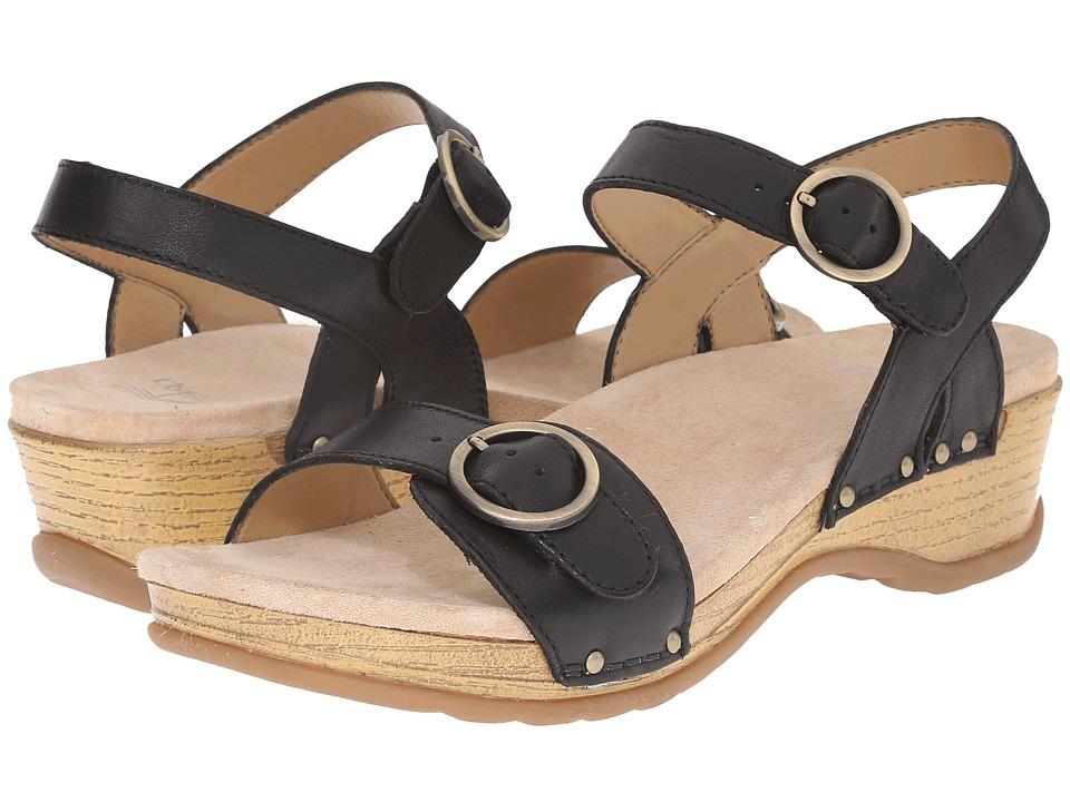 Dansko Mabel Black Full Grain Womens Sandals