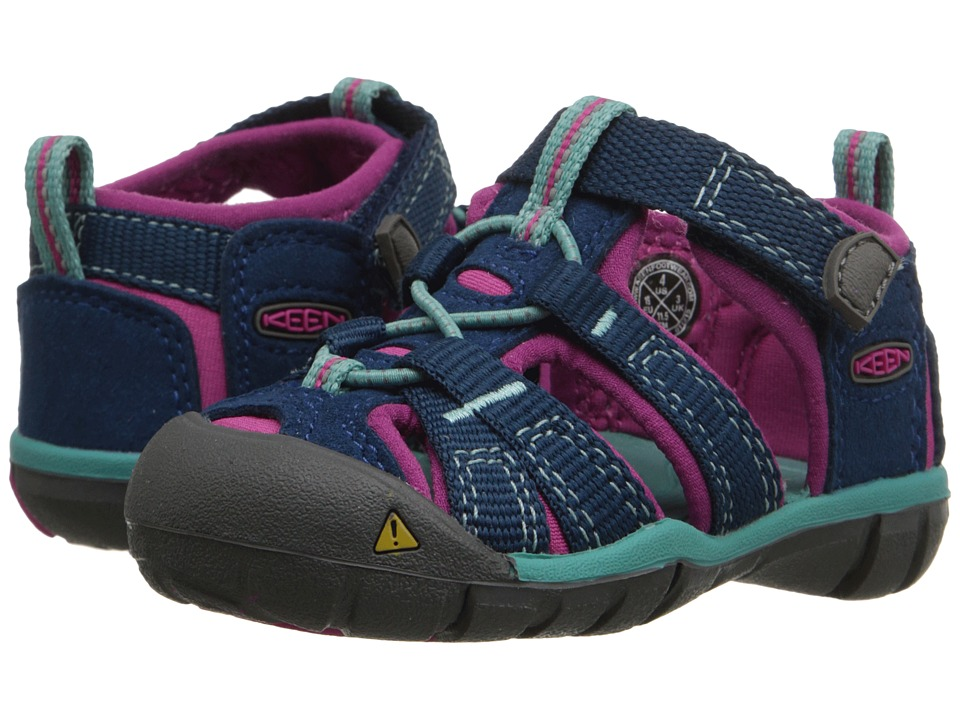 Keen Kids - Seacamp II CNX (Toddler) (Poseidon/Very Berry) Girls Shoes