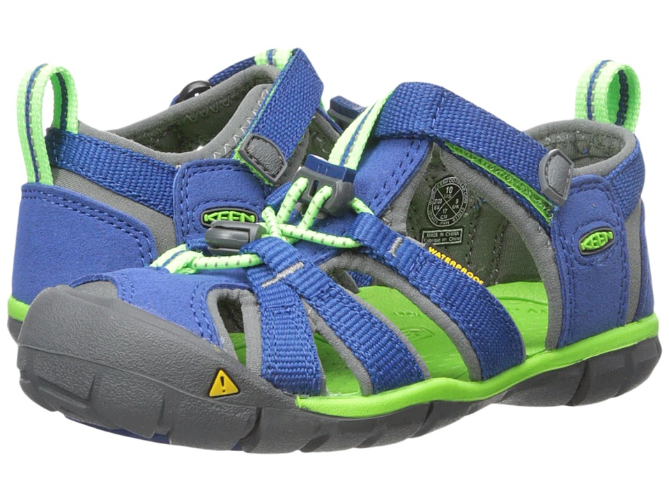 Keen Kids Seacamp II CNX (Toddler/Little Kid) (True Blue/Jasmine Green) Kids Shoes