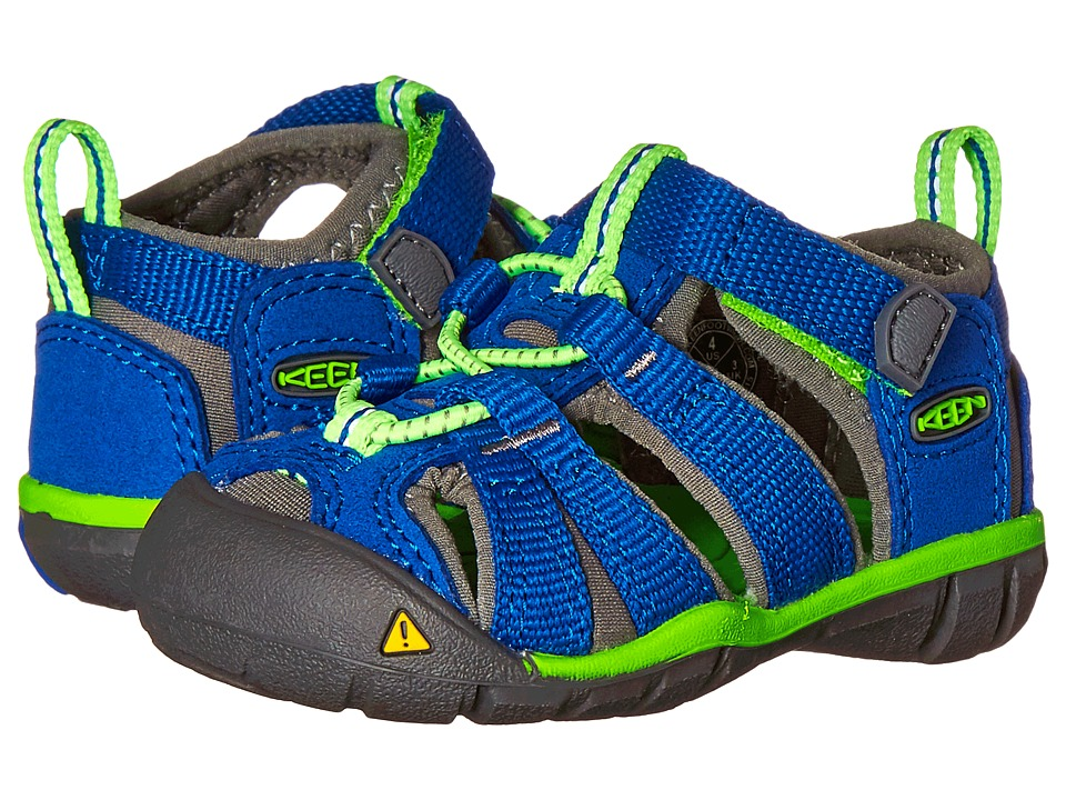 Keen Kids Seacamp II CNX (Toddler) (True Blue/Jasmine Green) Kids Shoes