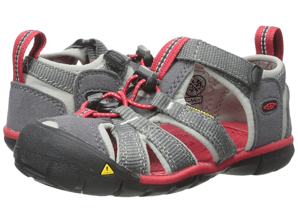 Keen Kids - Seacamp II CNX (Toddler/Little Kid) (Magnet/Racing Red) Boys Shoes