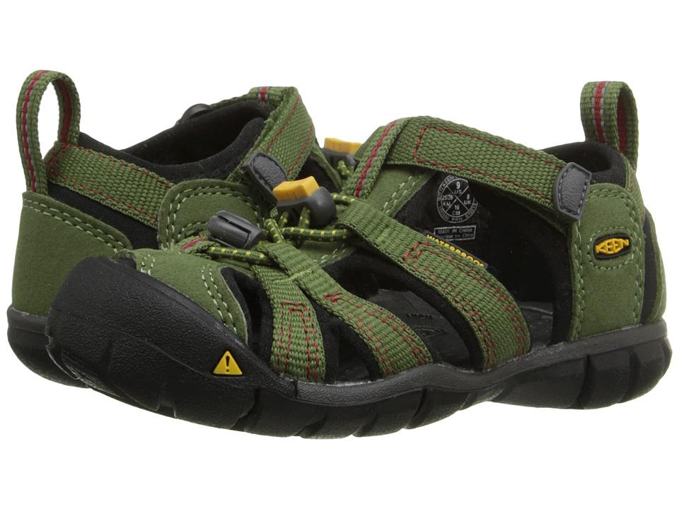 Keen Kids - Seacamp II CNX (Toddler/Little Kid) (Bronze Green/Chili Pepper) Boys Shoes