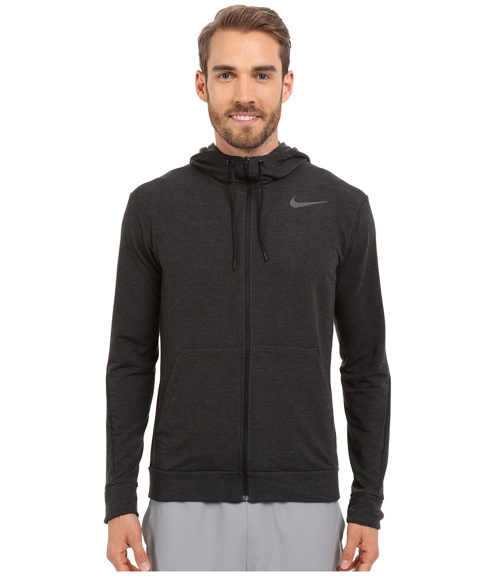 Nike Dri-FITtm Fleece Full-Zip Training Hoodie (Black/Black) Men