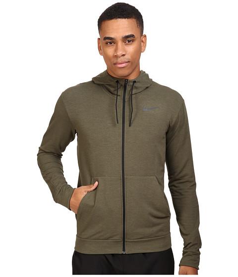Nike Dri-FIT™ Fleece Full-Zip Training Hoodie - Cargo Khaki/Black