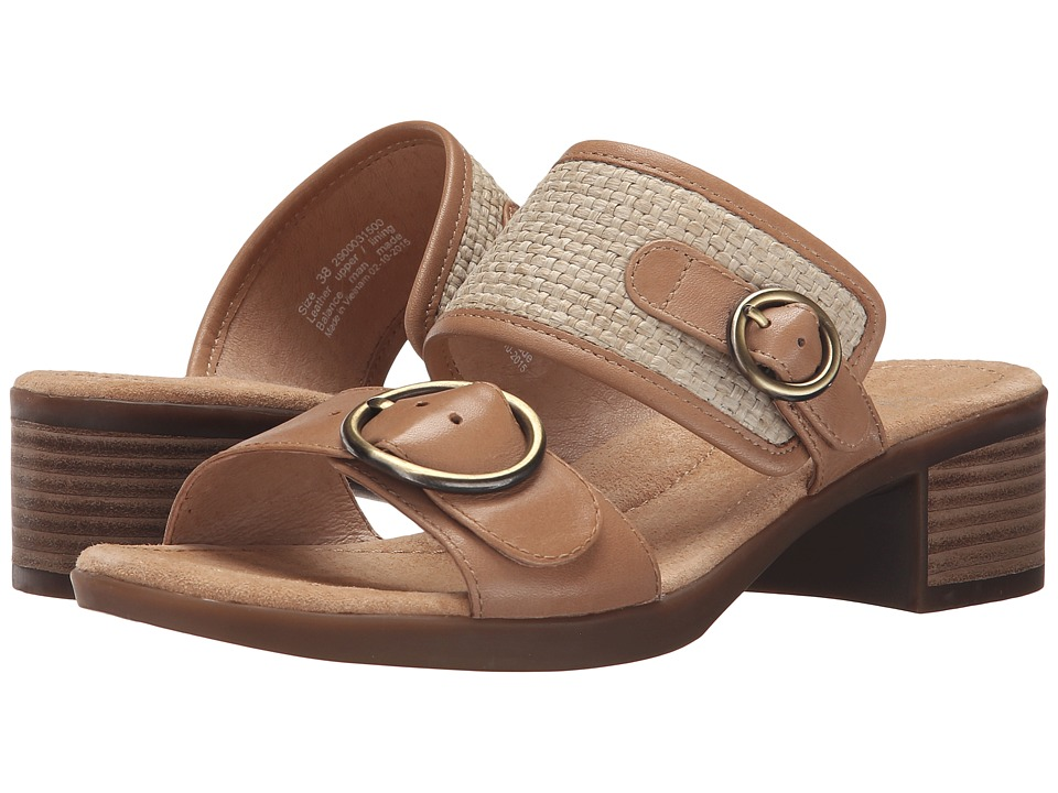 Dansko Lenny Sand Full Grain/Raffia Womens Sandals