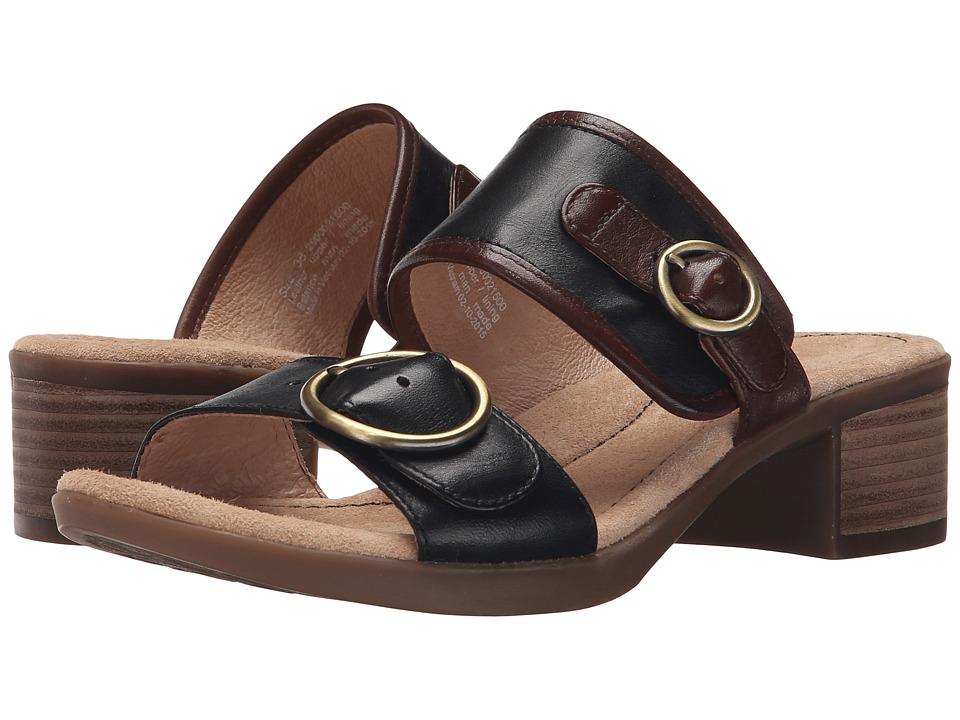 Dansko Lenny Black Full Grain Womens Sandals