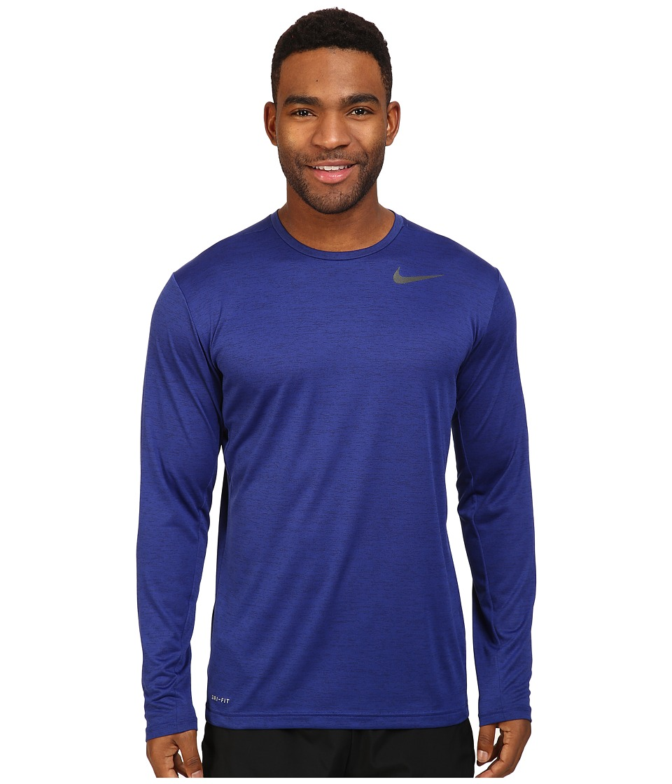 Nike Dri-FIT Training Long Sleeve Shirt (Deep Royal Blue/Black) Men