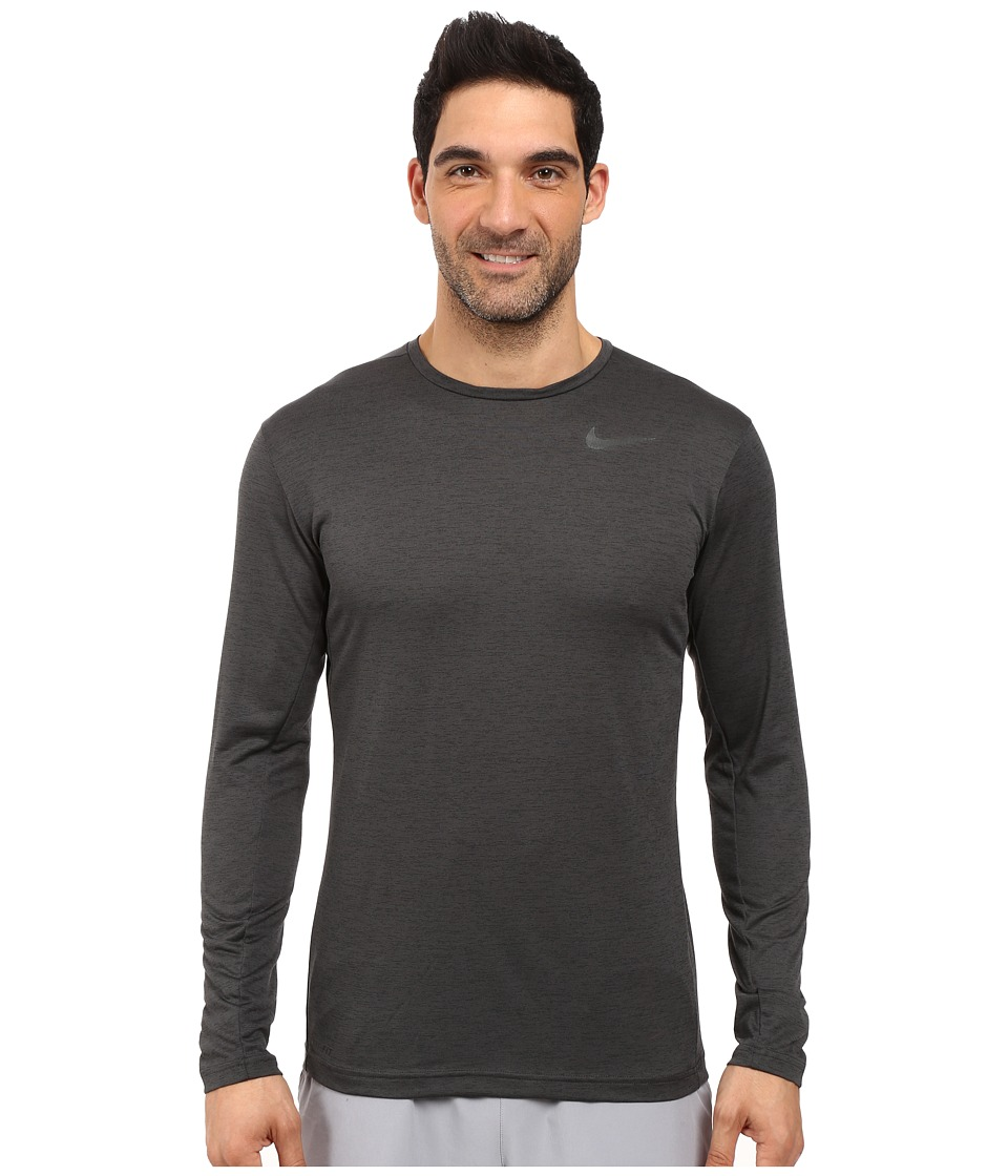 Nike Dri-FIT Training Long Sleeve Shirt (Black/Black) Men