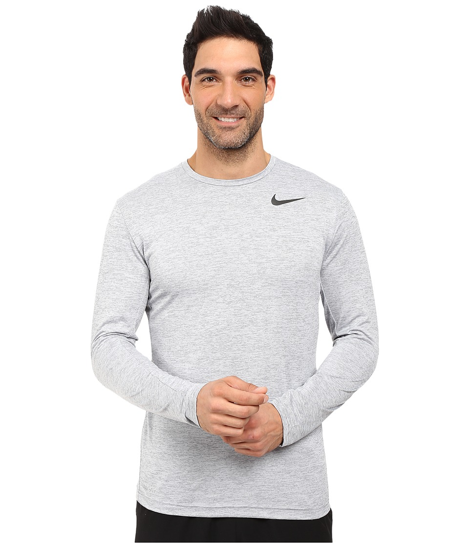 Nike Dri-FIT Training Long Sleeve Shirt (Cool Grey/Black) Men