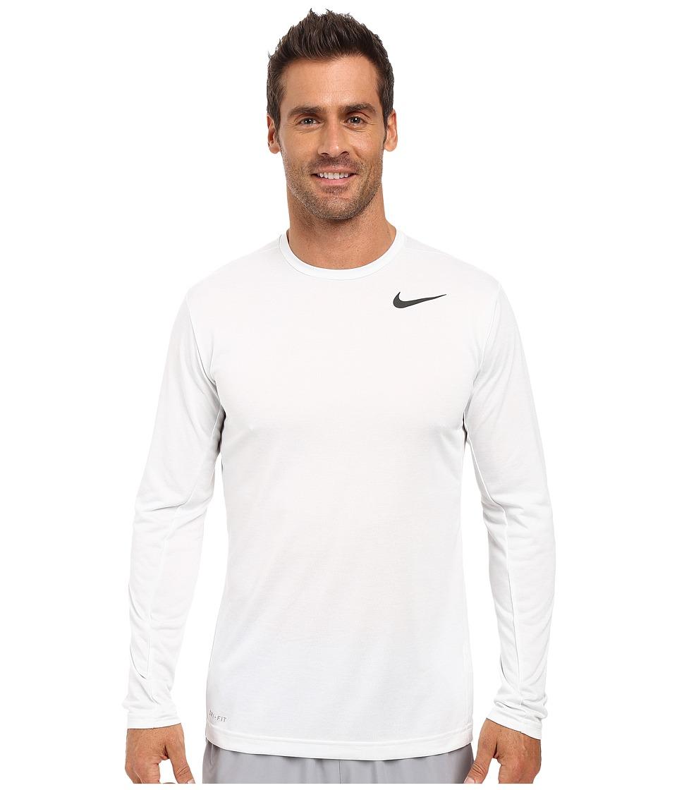 Nike Dri-FIT Training Long Sleeve Shirt (White/Black) Men