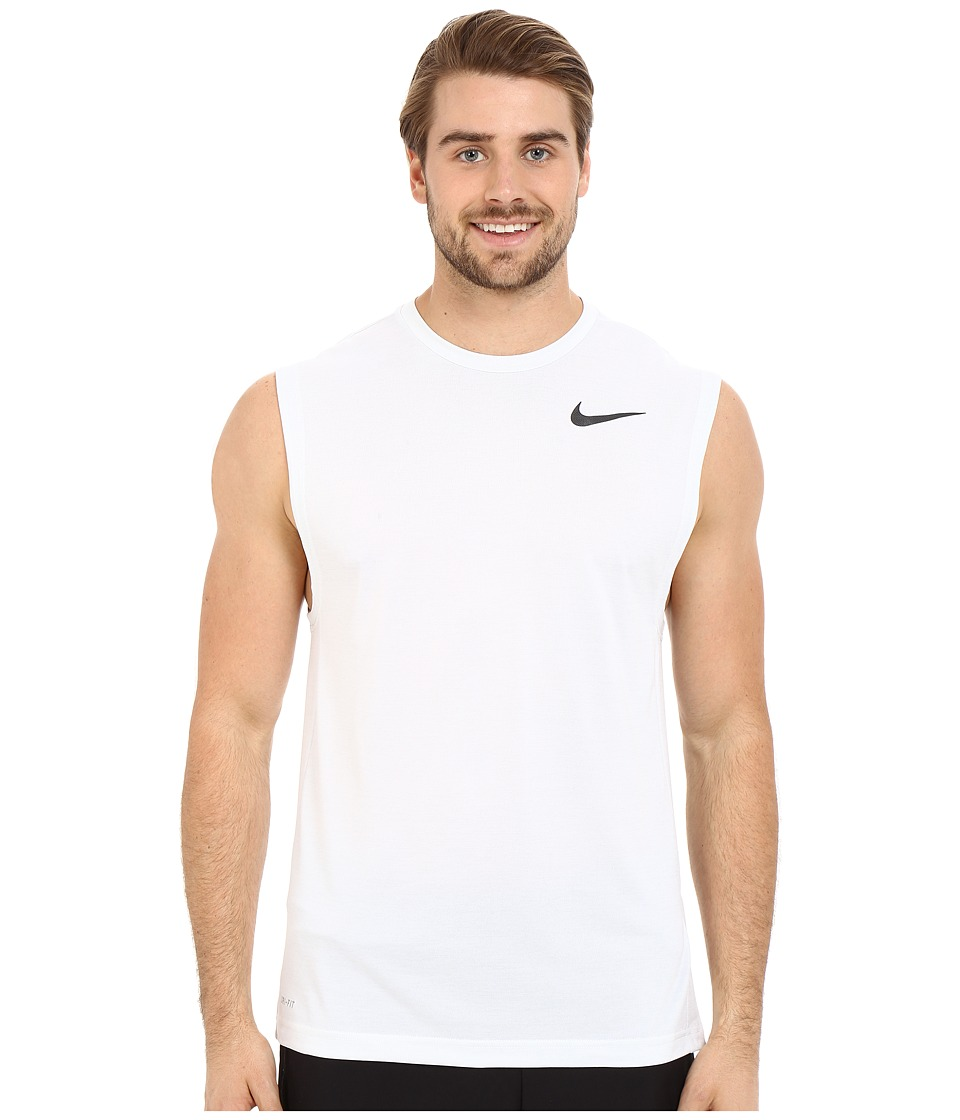 Nike Dri-FIT Training Muscle Tank Top (White/Black) Men