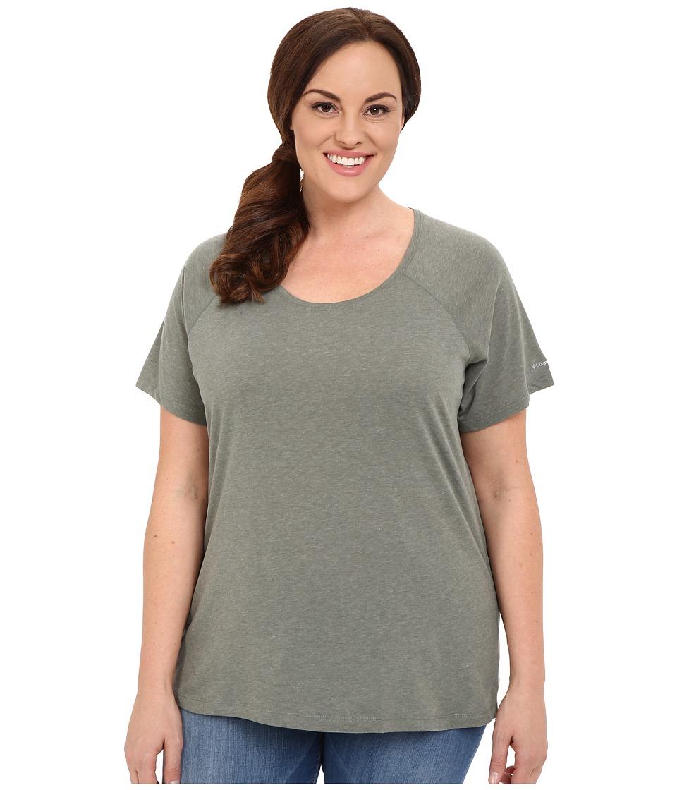 Columbia Plus Size Silver Ridge Zero Short Sleeve Shirt (Cypress Heather) Women