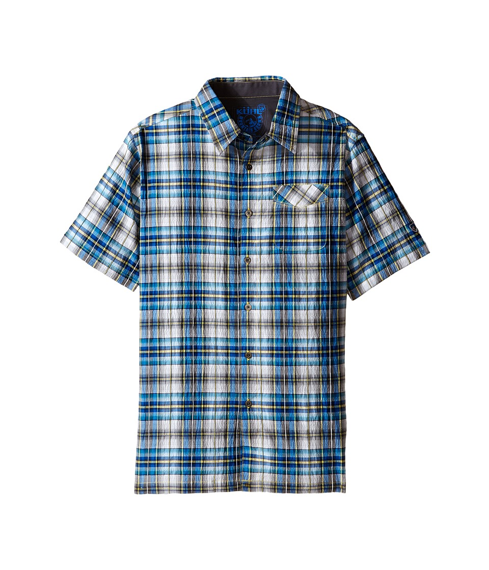 Kuhl Kids Boys Stallion Little Kids/Big Kids Blue Fuzion Boys Short Sleeve Button Up