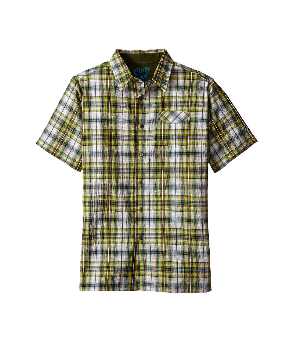 Kuhl Kids Boys Stallion Little Kids/Big Kids Skuba Lime Boys Short Sleeve Button Up