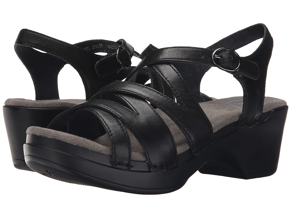 Dansko Stevie (Black Full Grain) Women's Sandals