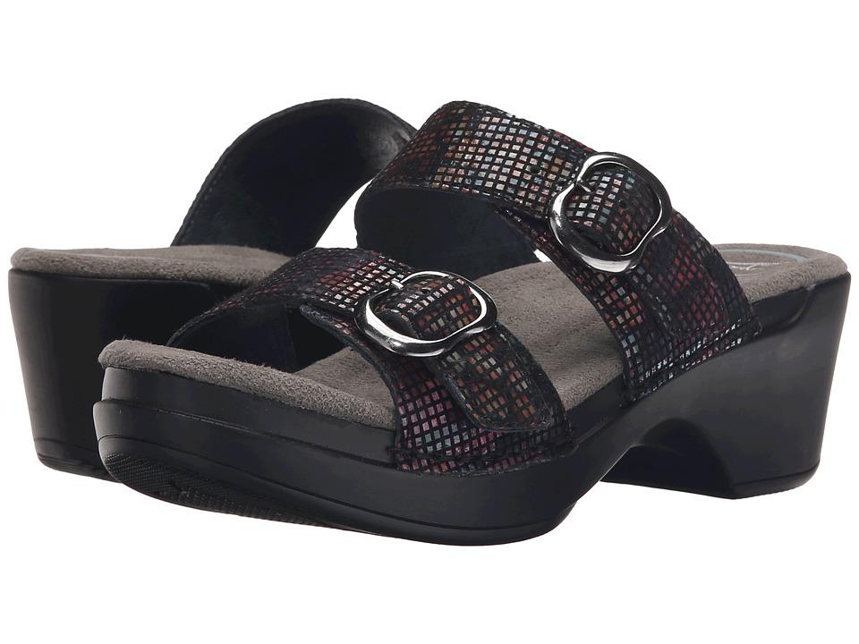 Dansko Sophie (Black Stained Glass) Women's Sandals