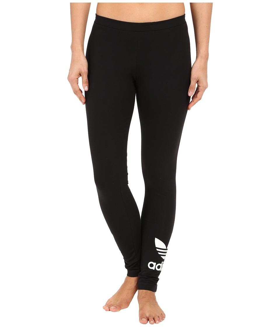 adidas Originals Trefoil Leggings (Black/White) Women
