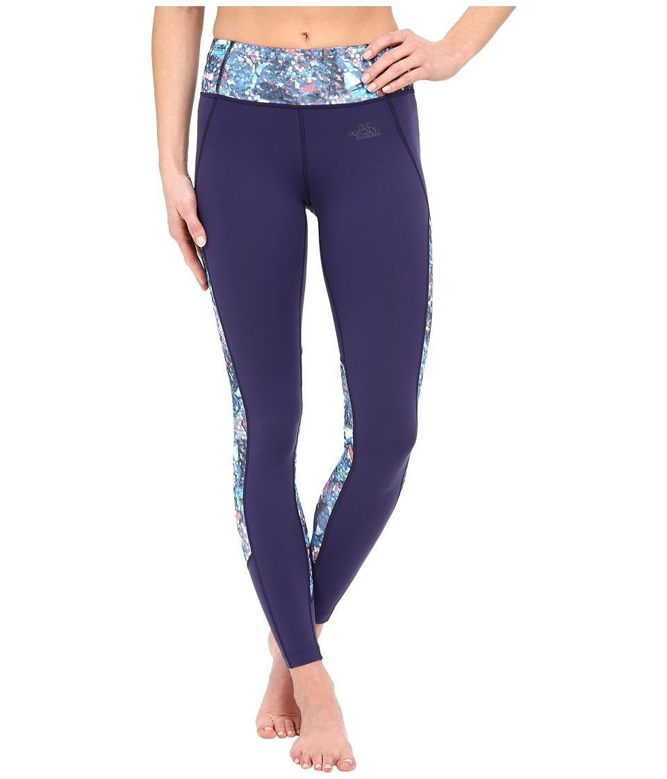 The North Face Motivation Color Block Printed Leggings Patriot Blue Gem Party Print Womens Casual Pants