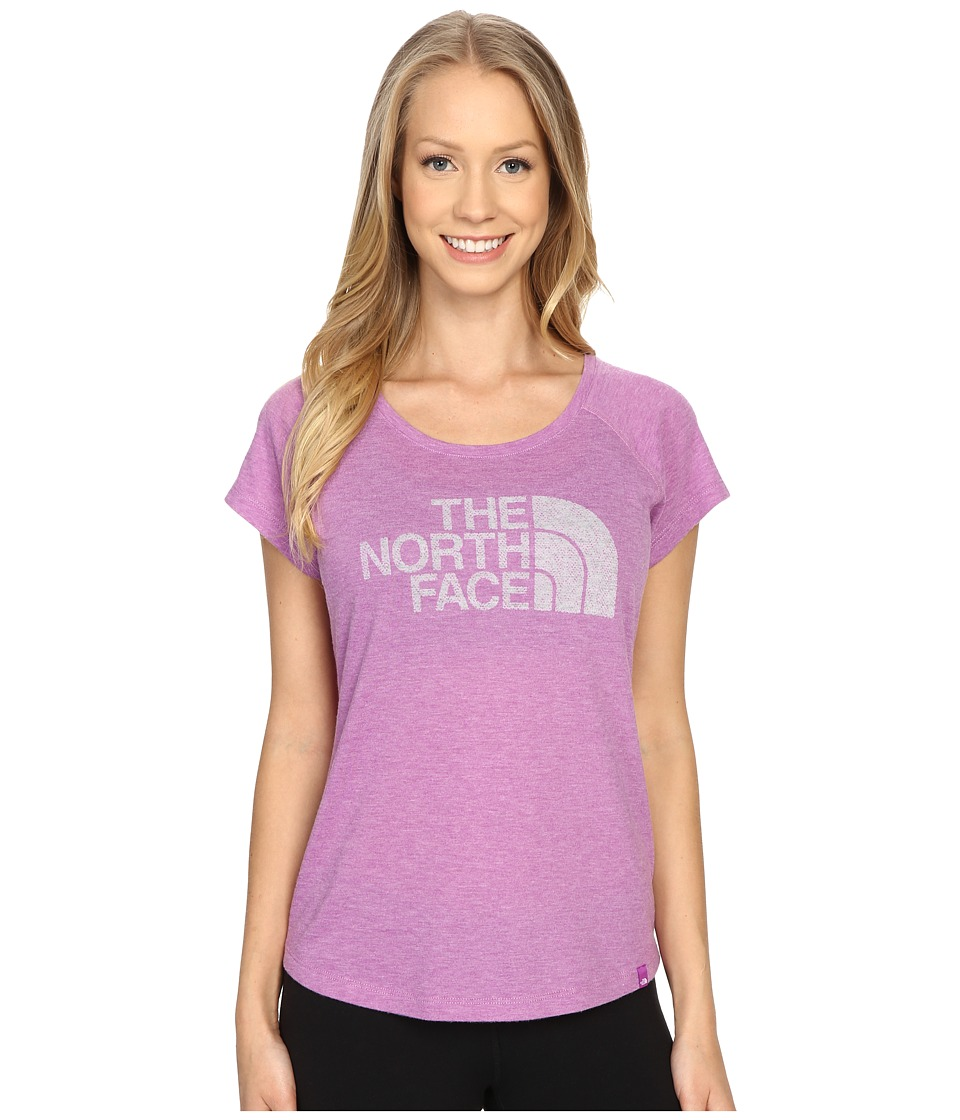 The North Face Burnout Short Sleeve Sweet Violet Heather Womens Short Sleeve Pullover