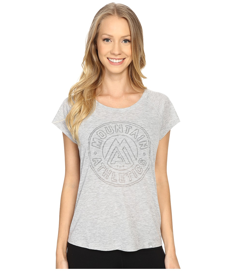 The North Face Burnout Short Sleeve TNF Light Grey Heather Womens Short Sleeve Pullover