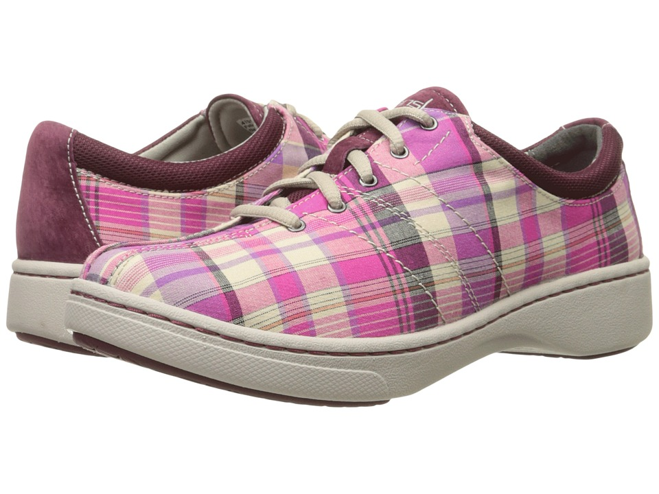 Dansko Brandi Pink Madras Canvas Womens Shoes
