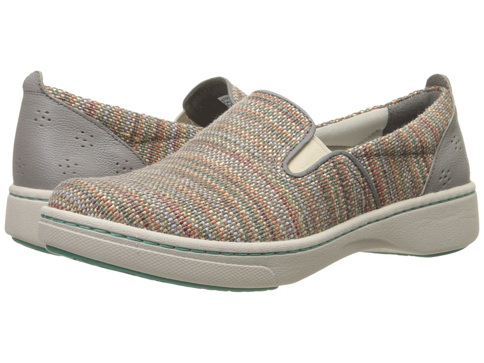 Dansko Belle Stone Textured Canvas Womens Slip on Shoes