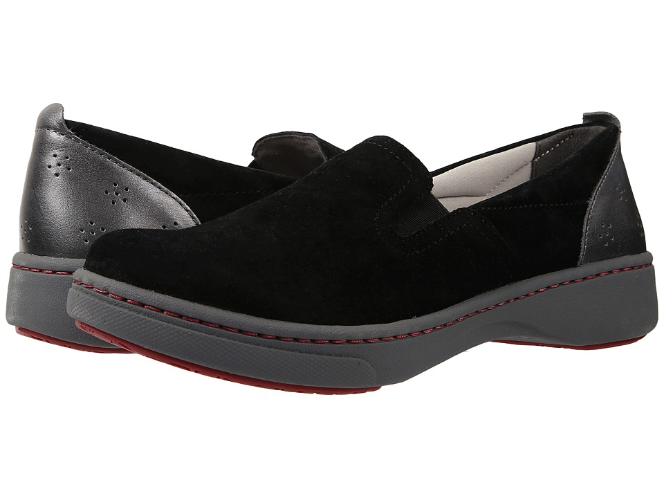 Dansko Belle Black Suede Womens Slip on Shoes