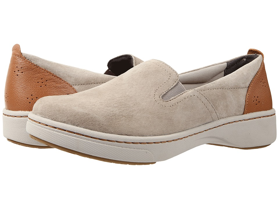 Dansko Belle Taupe Suede Womens Slip on Shoes