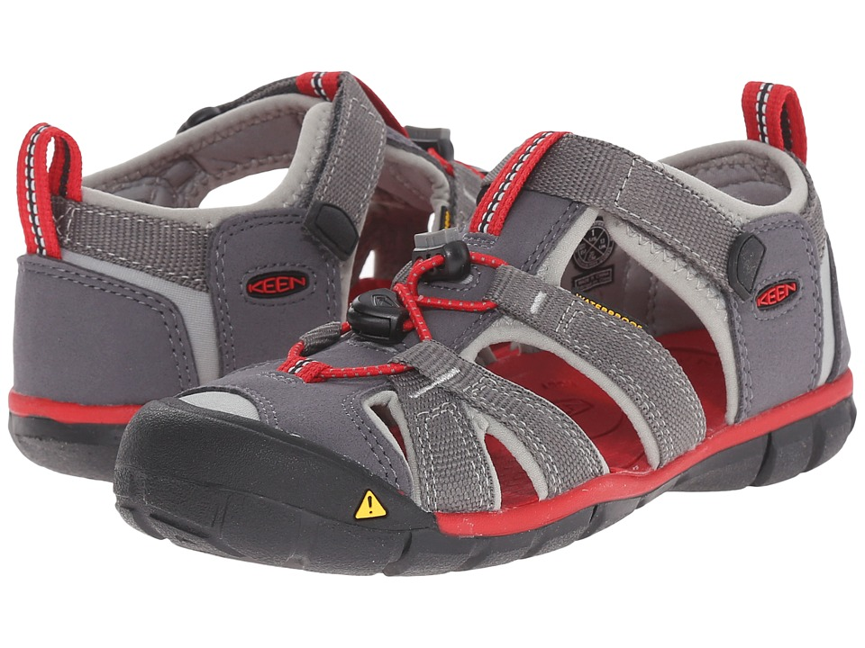 Keen Kids - Seacamp II CNX (Little Kid/Big Kid) (Magnet/Racing Red) Boys Shoes