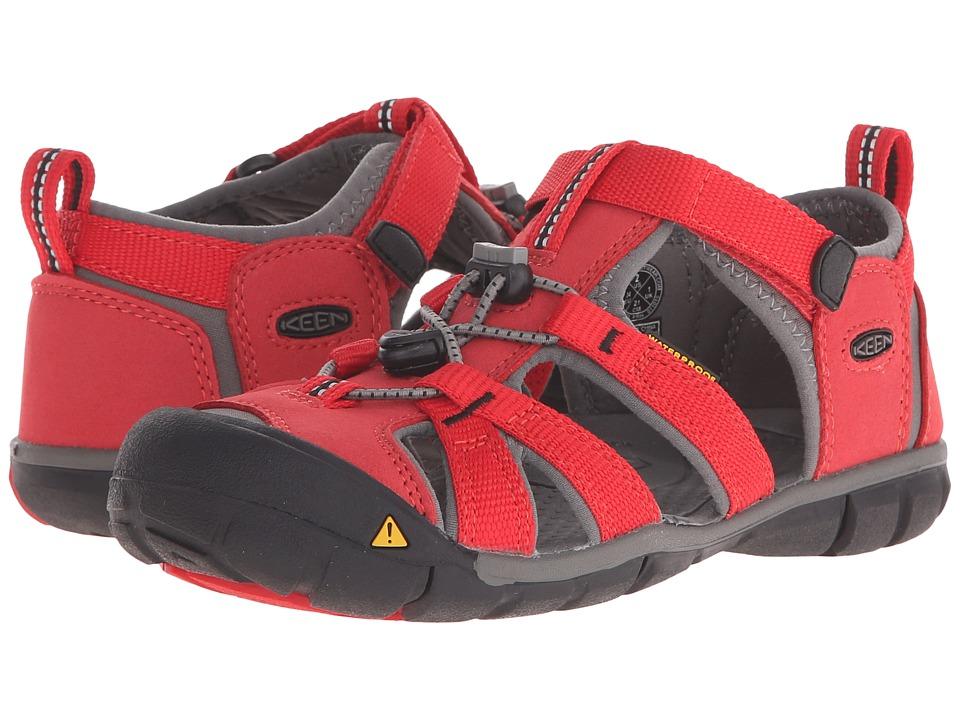 Keen Kids - Seacamp II CNX (Little Kid/Big Kid) (Racing Red/Gargoyle) Kids Shoes
